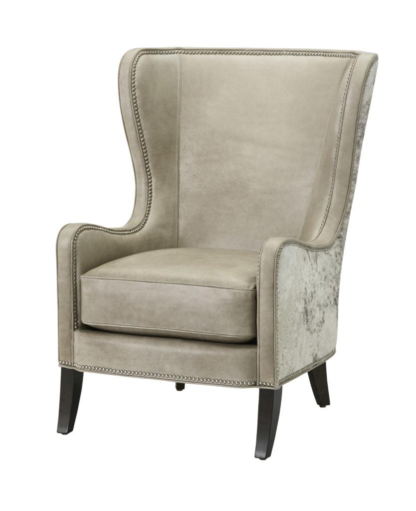 L4435 BERKSHIRE leather hide chair massoud