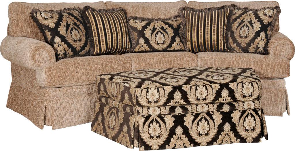 Lt Gold Brown Pillows mayo conversation sofa