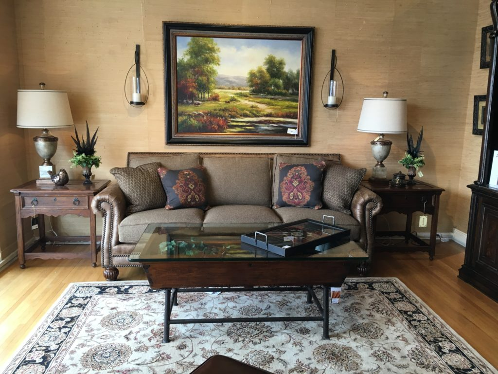 Mayo sofa wine barrel coffee table oil print nourison 2000 5x8_