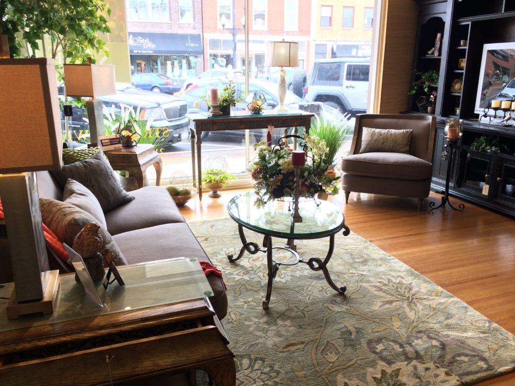 aico studio sofa nourison rug glass coffee table and entertainment center book case