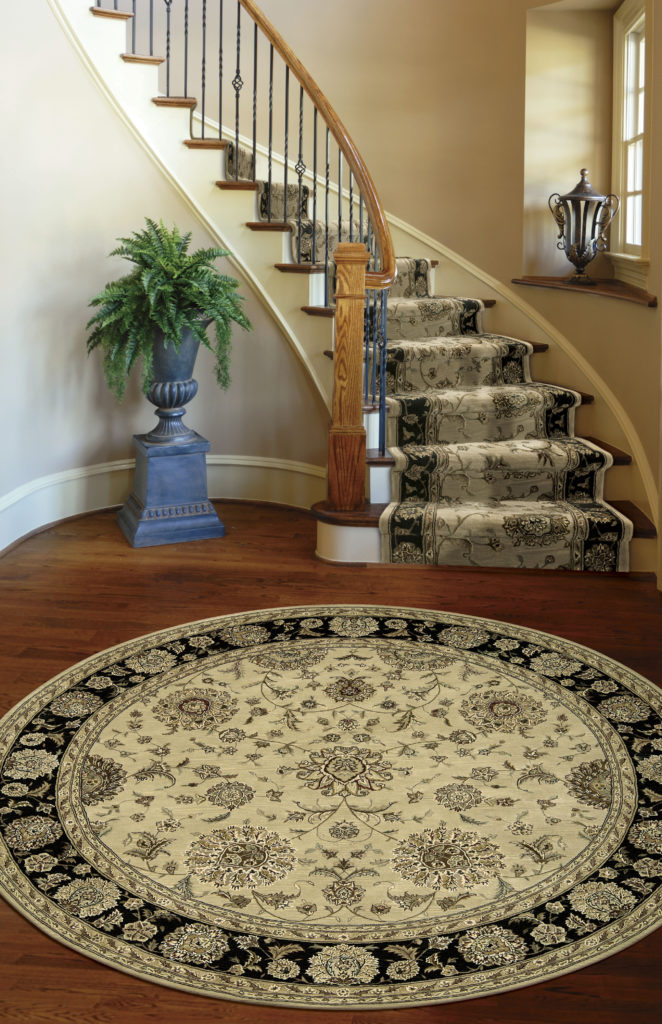2207 BGE room with round area rug nourison_