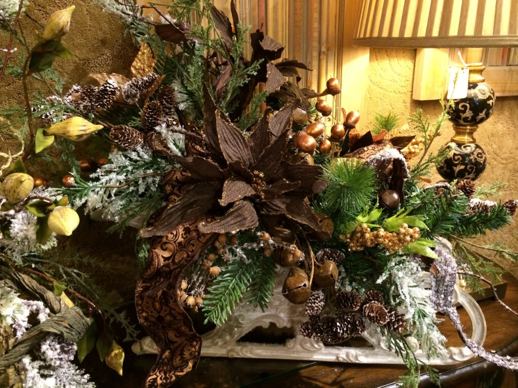 Christmas Floral Arrangement sleigh chocolate_
