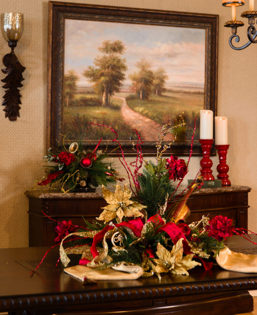 Christmas Floral table setting_