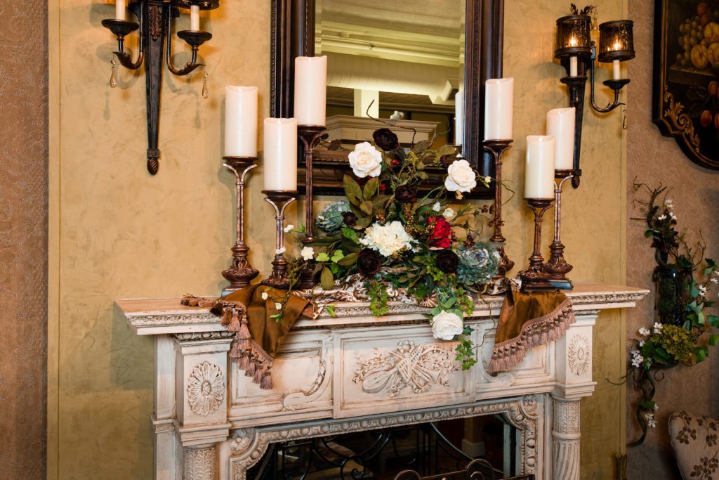 everyday floral mantel piece