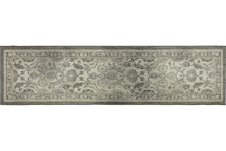 karastan smart fiber runner grey_white rug_